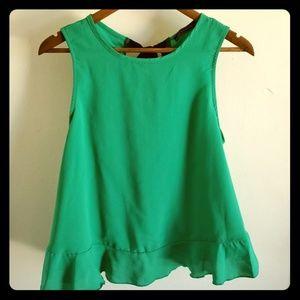 Lila Clothing Co. Teal Sleeveless Blouse | Lg
